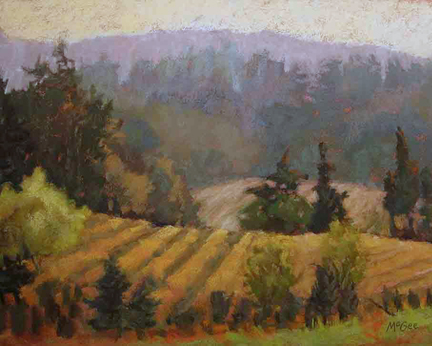 Plein Air Pastel from the Salem Oregon Dwarf Pony Farm