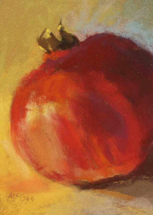Painting study for pomegranates