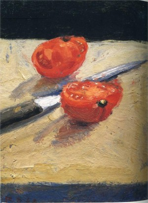 Diebenkorn Tomato and Knife, Oil